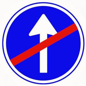 verkeersbord-stop-verplichte rijrichting A