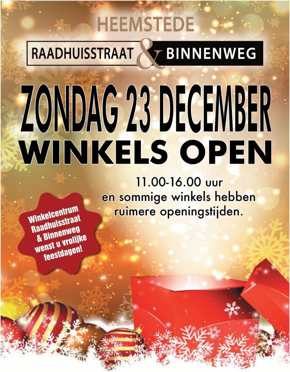 60ded5066a9 Het zijn drukke dagen voor kerst en daarom zijn een groot aantal winkels op  de Raadhuisstraat & Binnenweg aanstaande zondag ook open.